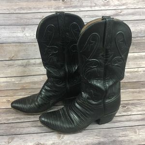 Lucchese Black Western Boots